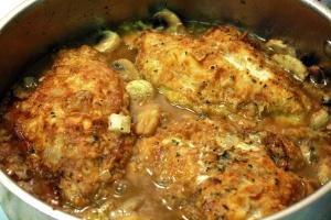 chicken & mushrooms
